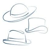 Шляпы дамы и джентльмена Стоковые Изображения RF