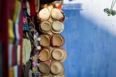 Шляпы для продажи на рынке в Hoi, Вьетнаме Стоковые Фото