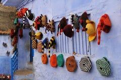Шляпы Chefchaouen Стоковое Изображение