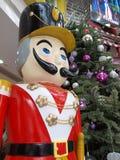 Щелкунчик рождества деревянный Стоковые Фото