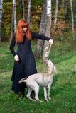 щенок девушки Стоковое Изображение