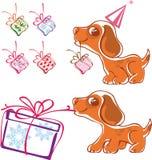 щенок подарков шаловливый Стоковое Фото