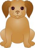 щенок шаржа милый Стоковое Фото