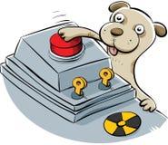 Щенок ядерной катастрофы иллюстрация вектора