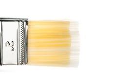 Щетинка кисти на белой предпосылке Стоковые Фото