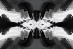 Щетка гладит рукой обои акриловых и масла краски графические стильные Ультрамодный футуристический современный дизайн бесплатная иллюстрация