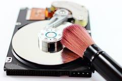 Щетка жесткого диска и чистки Стоковое Изображение RF