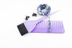 Щетка и гребень для волос Стоковая Фотография