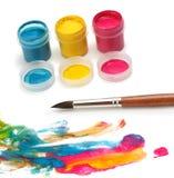 щетка красит краску Стоковое фото RF