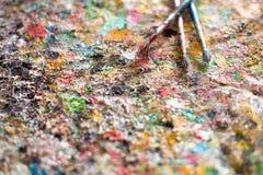 Щетка, краска, художническая Стоковая Фотография RF