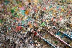 Щетка, краска, художническая Стоковое фото RF