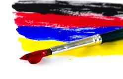 Щетка краски на белизне Стоковое Фото