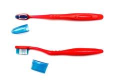 щетка предпосылки изолированная над белизной зуба Стоковое Изображение