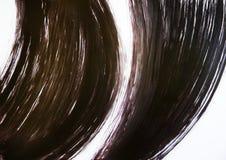 Щетка рисует 2 полукруглых линии которая не пересекают и не касаются один другого Энергия привлекательности 2 объектов стоковое изображение rf