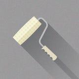 Щетка ролика краски, плоская иллюстрация вектора иллюстрация вектора