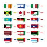 Щетка ролика с флагом Стоковые Изображения RF