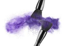 Щетка состава при изолированная цинковая пыль стоковое изображение rf