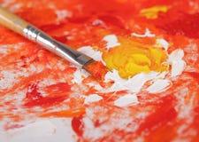 Щетка с краской Стоковые Изображения RF