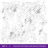 Щетка чернил штрихует собрание Grunge Пакостный комплект элементов дизайна Покрасьте Splatters, Freehand Grungy линии иллюстрация вектора