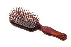 Щетка для волос на белой предпосылке Стоковые Изображения RF