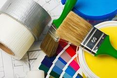 Щетки для краски Стоковое Изображение RF