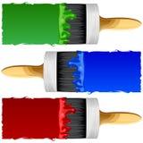 Щетки с краской Стоковое фото RF