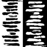 Щетки чернят белизну иллюстрация вектора