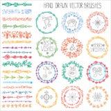 Щетки doodle зимы белизна изоляции декора рождества покрашено бесплатная иллюстрация