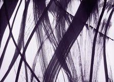 Щетк-нарисованные гибкие линии широки и тонки иллюстрация штока