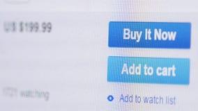 Щелкать на добавлять к кнопке тележки с указателем мыши акции видеоматериалы