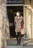 Щелчковый портрет девушки покупок Стоковые Фотографии RF