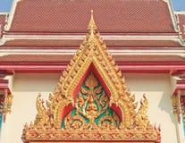 Щипец буддийского виска с вершиной стоковое фото