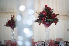 Щсновная часть таблицы свадьбы зимы Стоковая Фотография RF