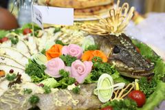 щука тарелки стоковое фото