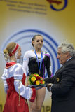 5-ые Европейские чемпионаты в художнической гимнастике Стоковое Фото