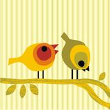 ые пары ветви птиц buscar Стоковое фото RF