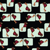 ые черепицей птицы делают по образцу безшовное Стоковые Фото