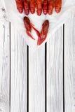 Ые Crawfish woden предпосылка Деревенский тип Меню морепродуктов стоковые фото