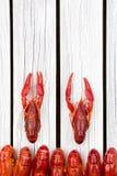 ые crayfish woden предпосылка Деревенский тип Меню морепродуктов стоковое изображение rf