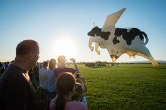 1-ые Megafiesta воздушного шара, Piestany, Словакия Стоковые Изображения RF
