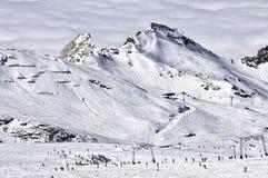 лыжа курорта alps Стоковое Изображение RF