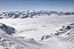 лыжа курорта alps Стоковые Фото