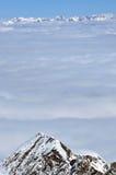 лыжа курорта alps Стоковые Изображения