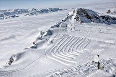 лыжа курорта alps Стоковое Фото