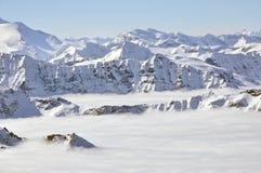 лыжа курорта alps Стоковые Изображения RF