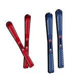 лыжа 3D на белой предпосылке Стоковое фото RF