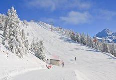 лыжа schladming курорта Австралии Австралии Стоковое Изображение RF
