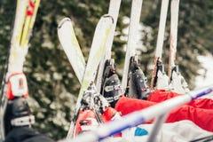 лыжи стоковое фото