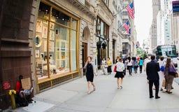 5-ый бульвар в Нью-Йорке Стоковое Изображение