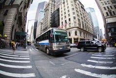 5-ый бульвар, Нью-Йорк, Нью-Йорк Стоковые Фотографии RF